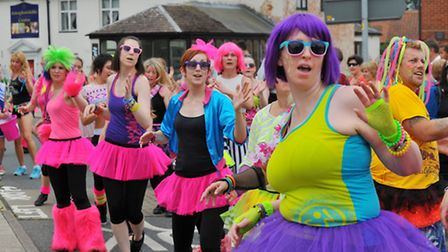 Attleborough Carnival procession making its way through the town last year. Photo: Steve Adams