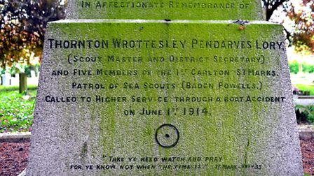 The base of the memorial in Carlton Colville. Picture: MICK HOWES