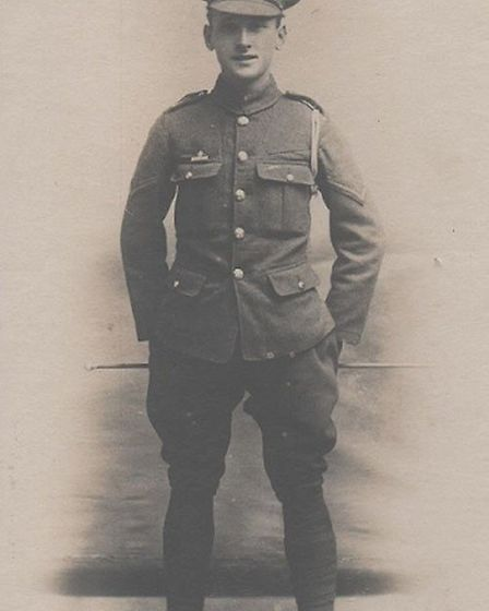 Stanley Wood in his army uniform. Picture was taken in approximately 1915. Picture: Tony Browne/Broa