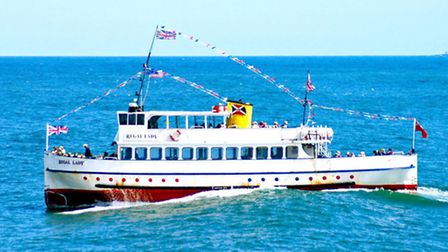 The Regal Lady, pictured at sea, is returning to Great Yarmouth for the Maritime Festival.