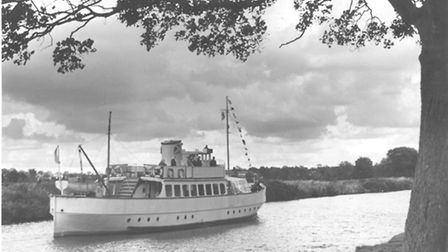 The Regal Lady on a late holiday cruise on the River Yare near Norwich in September 1972.