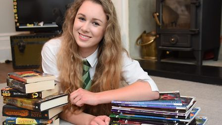 Imogen La Chapelle, 14, who has scored the highest score possible in a Mensa test, which is 162. Pic