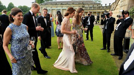 HRH Prince William and Catherine, Duchess of Cambridge attend a gala dinner in support of East Angli