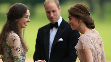 The Duke and Duchess of Cambridge attend a gala dinner at Houghton Hall. Photo: Stephen Pond/PA Wire