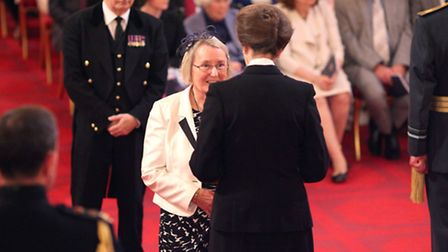 Wendy Maxwell from Norwich is made a Member of the Order of the British Empire (MBE) by the Princess