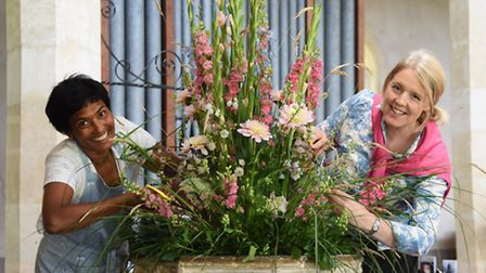 The Fun with Flowers festival being set up at St Peter's Church at Ringland. Jacqueline Kirkpatrick,