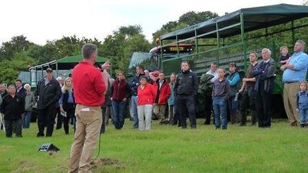 Farm tour at Chapman Farms in Martham, winner of the 2016 Norfolk Farm Business Competition
