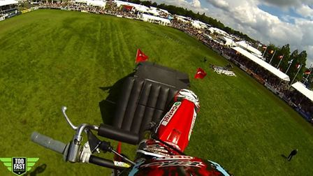 Head-cam footage from the Bolddog FMX display team in the Grand Ring at the Royal Norfolk Show. Phot