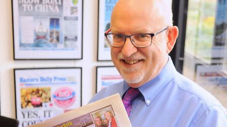 Editor-in-chief, Nigel Pickover reading the EDP. Picture: DENISE BRADLEY