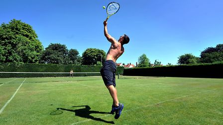 Playing tennis at Heigham Park. Photo: Bill Smith