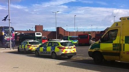 xxx_Emergency services at the scene of an incident at Lynn bus station_Picture.submitted