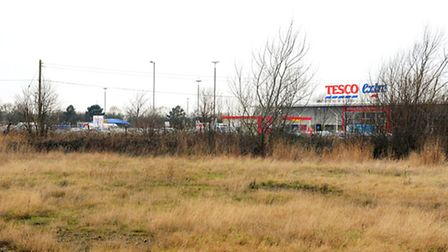 Empty land next to Pasta Foods and the Tesco Extra store in Great Yarmouth which is looking to be us