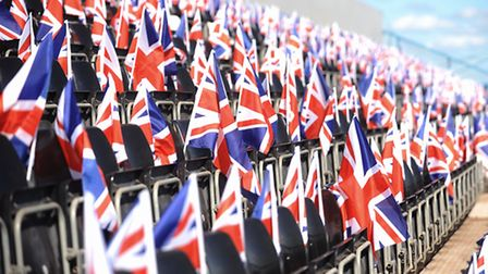 The Union Jack flags will be waving at Belle Vue. Picture: IAN BURT