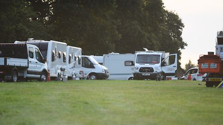 The travellers based on the field just off Pendlesham Rise, at Thorpe Marriott. Picture: DENISE BRAD
