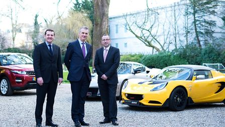 Left to right, Visit East Anglia executive director Pete Waters, British Ambassador to the Netherlan