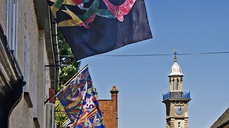 The flags flying in Harleston as the town prepares to bid farewell to the swifts. Picture: Ian Carst