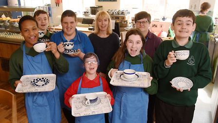 Parkside School has won a national award for the White Lion Cafe, which is run by it pupils, picture
