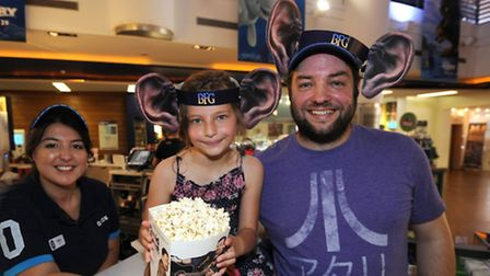 Staff at the Odeon Cinema, in Norwich, Norfolk prepare for the BFG film which will soon be on their