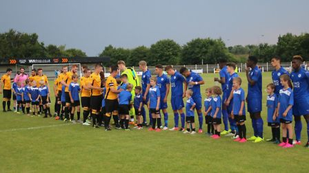 Action from Fakenham Town v Leicester City U21s at Clipbush Park. Picture: Tony Miles