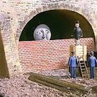 Channel Tunnel bricked up. Photo: Shaun Cole