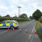 The road leading into Westwick between North Walsham and Coltishall where a serious collision occurr