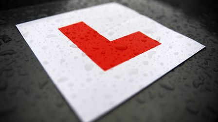 An L plate on a car. Photo: PA Wire