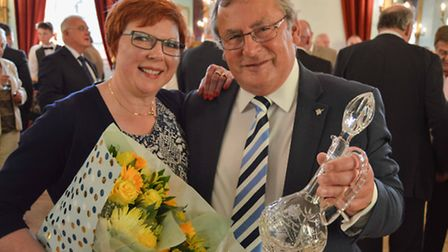 Nick Daubney and his wife Cheryl at the event held at King's Lynn Town Hall