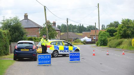 Forensic officers at the scene of a firearms incident in Magdalen. Picture: Ian Burt