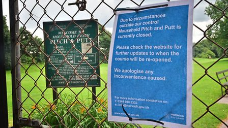 Mousehold Heath pitch & putt golf course closed until further notice.Picture: ANTONY KELLY