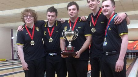 Norfolk's under-18 boys have retained their Inter County title. Pictured, from left, are Tom Caldwel