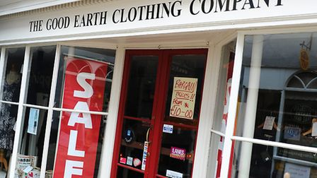 The Good Earth Clothing Company on Pottergate, Norwich. Photo: James Bass.