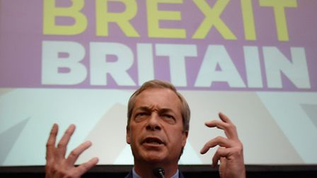 Ukip leader Nigel Farage announces he is resigning as party leader during a speech at The Emmanuel C