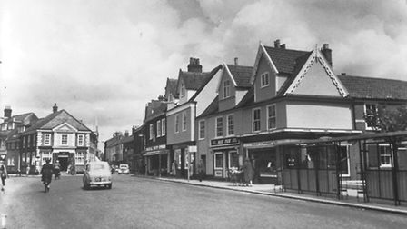 How Magdalen Street looked before the inner ring road flyover opened in 1972.