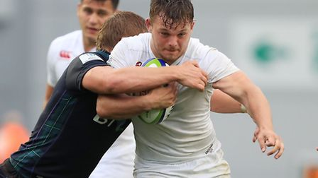 England's Will Evans in action against Scotland during the World Rugby U20 Championships. Picture: D