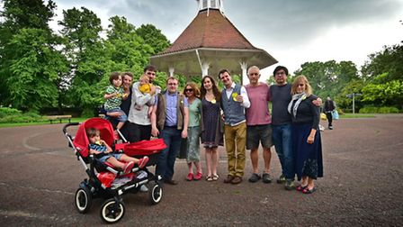Remain voters meet for a group hug in Chapelfield Gardens.Picture: ANTONY KELLY