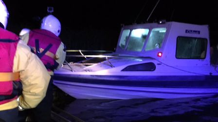 Boat that was rescued in Burgh St Peter after running out of fuel