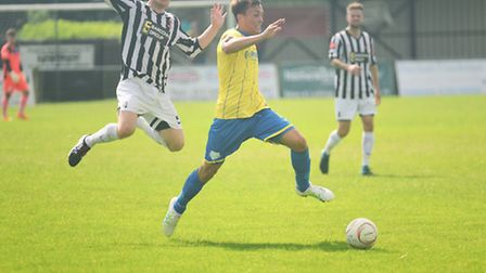 Toby Hilliard, right, will aim to play a big part for King's Lynn Town in 2016/17. Picture: IAN BURT
