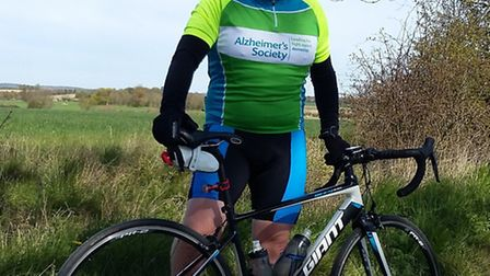 Iain Harper from Thetford is taking part in a bike ride from London to Paris for the Alzheimer's Soc
