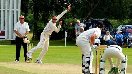 Action from the final match of the 2015 Norfolk Festival of Cricket, against Cambridgeshire at Manor