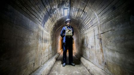 Last year's Forties weekend event in King's Lynn - Inside the air raid shelter. Picture: Matthew Ush