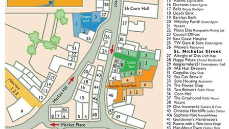The Diss traders heritage map. Picture: Submitted.