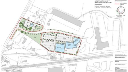 The plans presented to Breckland for a supermarket and mixed-use development in Mundford Road, Brand