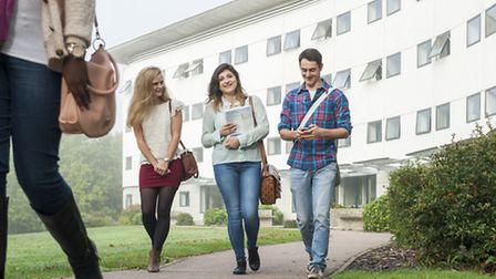 Students at the University of East Anglia. Picture: Supplied