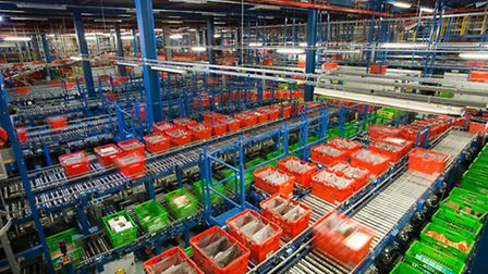 Ocado's Customer Fulfilment Centre in Hatfield, as the online grocer warned Brexit could send superm