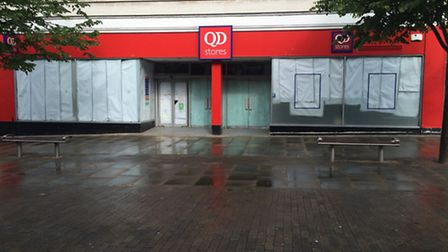 The QD store on London Road North has closed.