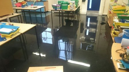 Flooding at Avenue Primary School