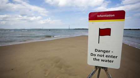 Part of the unpatrolled area of Sea Palling beach. Picture: MARK BULLIMORE
