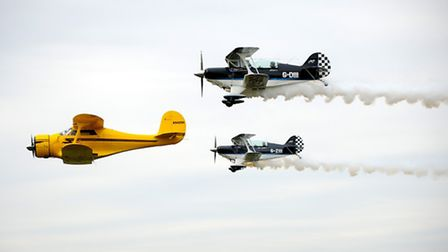 Several of the aircraft which will be on display and performing during the Old Buckenham Airshow in