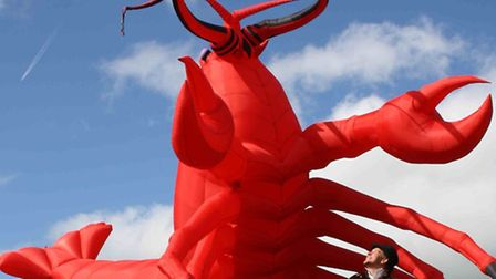18-foot lobster to visit Norwich's Castle Mall. Picture submitted.
