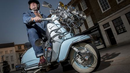 The Mods and Rockers Scooter and Motorbike Meet is being held in King's Lynn's Tuesday Market Place